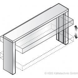 Einbau-Wanne und Einbau-Platte Elektrischer Hustenschutz GN 3/1