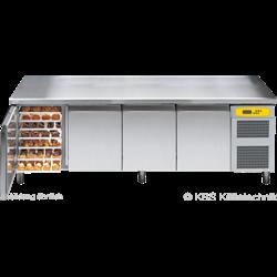 Bäckereikühltisch BKTF 4020 M (Arbeitsplatte mit Aufkantung)