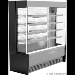 Edelstahlwandkühlregal Paros Pro E 192 mit Schiebetüren