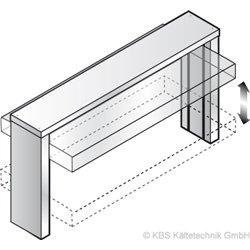 Einbau-Wanne und Einbau-Platte Elektrischer Hustenschutz GN 2/1