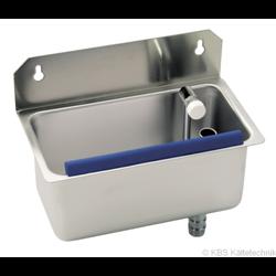 Anbauspüle mit regelbaren Wasserdurchlauf