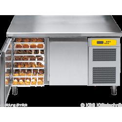 Bäckereikühltisch BKTF 2020 M (Arbeitsplatte mit Aufkantung)
