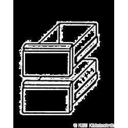 Bäckereikühltischschubladensatz 1/2 +1/2