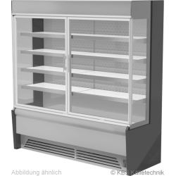 Edelstahlwandkühlregal Paros Pro E 102 mit Drehtüren