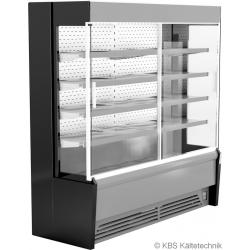 Edelstahlwandkühlregal Paros Pro E 102 mit Schiebetüren