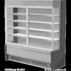 Edelstahlwandkühlregal Paros Pro E 162 mit Drehtüren
