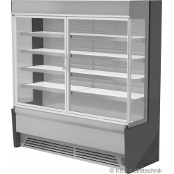 Edelstahlwandkühlregal Paros Pro E 192 mit Drehtüren
