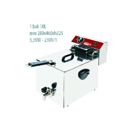 Friteuse / Elektro F10TR / X (4,5 Kw - 380w/3)