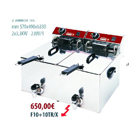Friteuse / Elektro F10 + 10 TR / X 9 Kw-2x400 V-230V