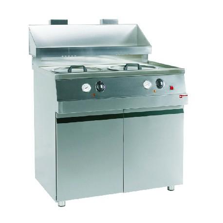 Friteuse / Gas MIKA / 2 (2 x 13600 kcal/h)